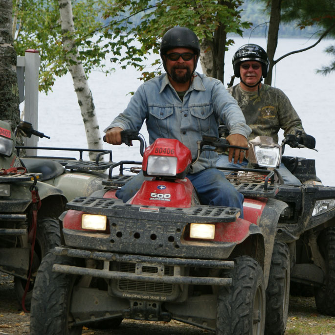 ATV from Maine cabin