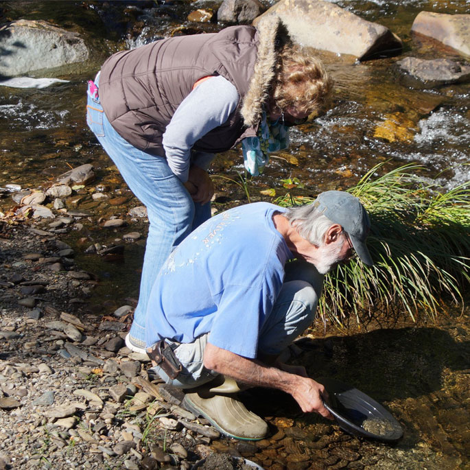 Maine Panning for Gold