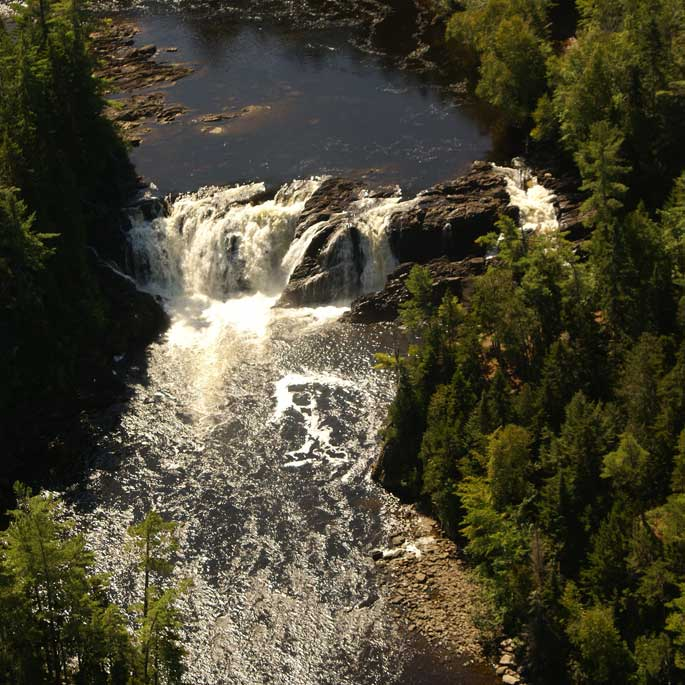 Aerial view of Moose River Maine