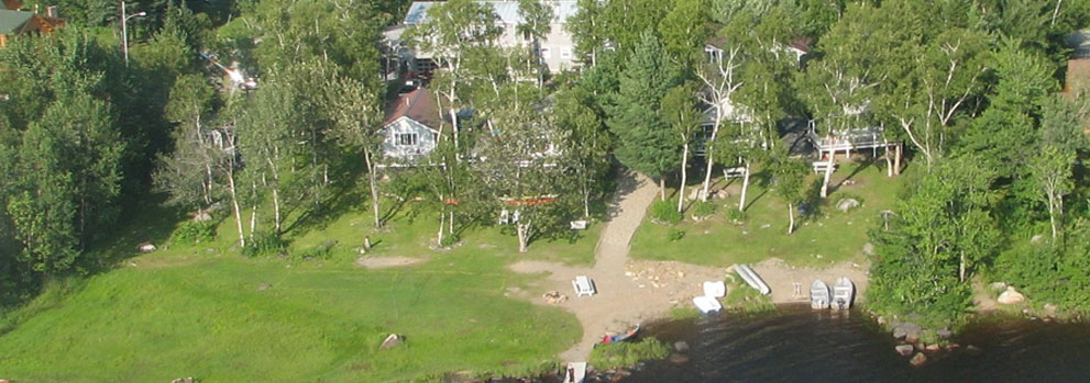 Jackman Maine Cabins Aerial