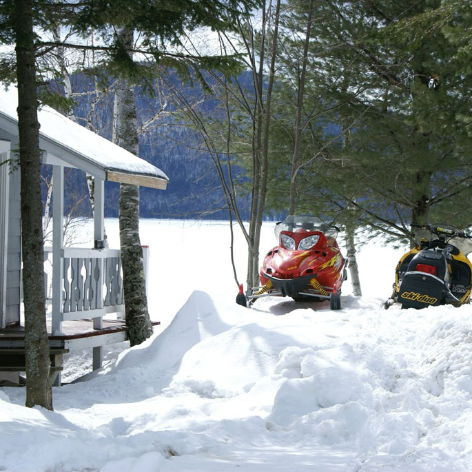 Jackman Maine Snowmobile Cabin