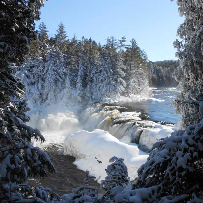 Winter Maine Falls